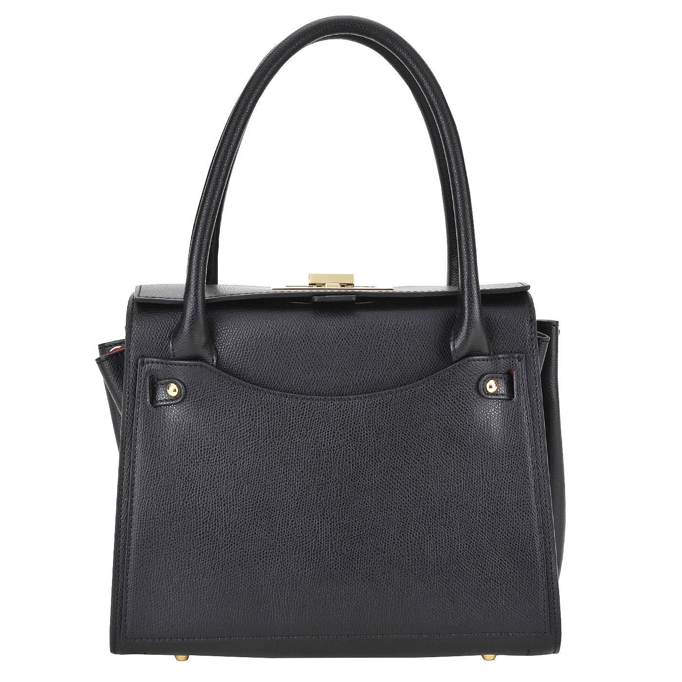 СумкаКлассические сумки<br>Carlo Salvatelli, Lord, сумка жен, н/к, тиснен, черн/красн.<br>