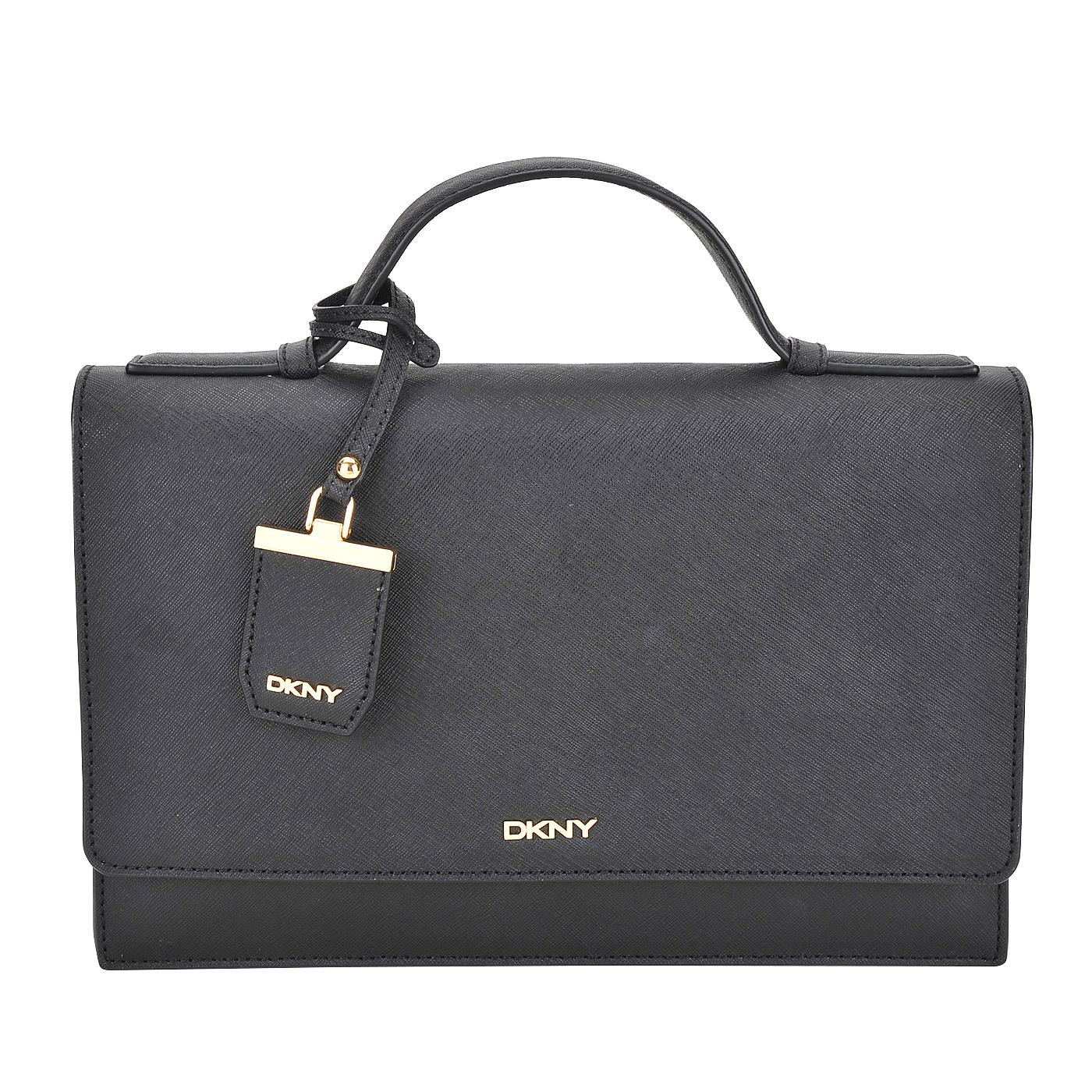 Женская кожаная сумка DKNY