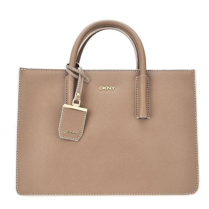 Сумка DKNY Saffiano with Edge R1612006-251 коричневый натуральная кожа 34 x 24 купить в интернет-магазине