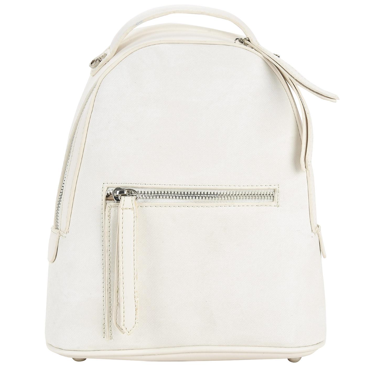 c578844c11ea ... Женский белый рюкзак из экокожи со съемным плечевым ремешком Dispacci  ...
