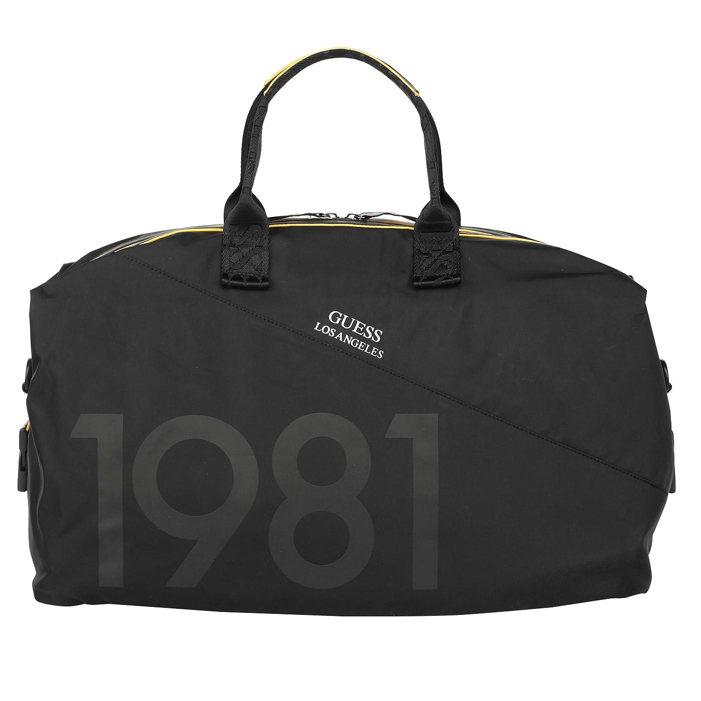 a8282ffc6b79 Мужская дорожная сумка с плечевым ремнем Guess TM6117 NYL73_black ...
