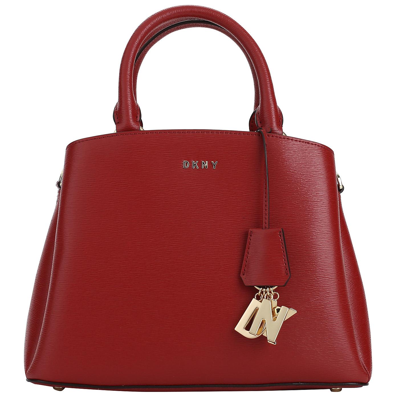 1b8e653c66e8 Красная кожаная сумка DKNY Paige Красная кожаная сумка DKNY Paige ...