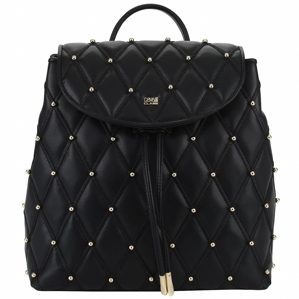 Черный стеганый рюкзак Cavalli Class Joile