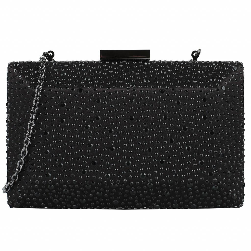 Черный клатч со стразами Love Moschino Evening bag